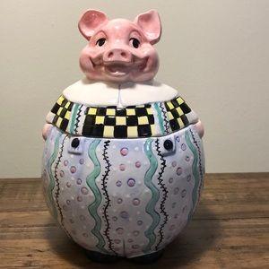 Pig ceramic cookie jar